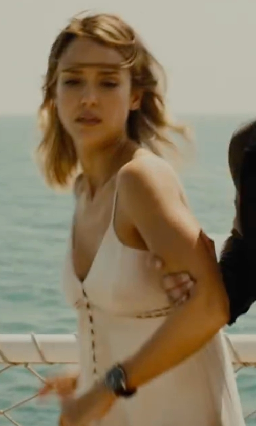 Jessica Alba with Omega DeVille Prestige Automatic Watch in Mechanic: Resurrection