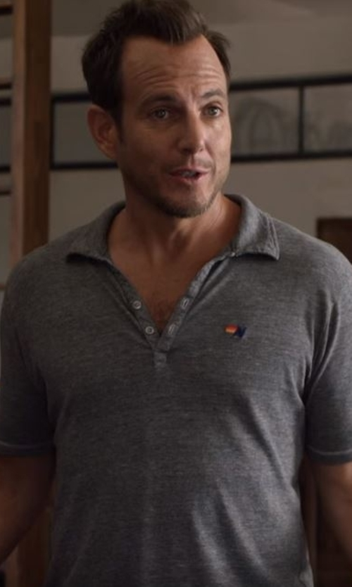 Will Arnett with Aviator Nation Polo Shirt in Flaked