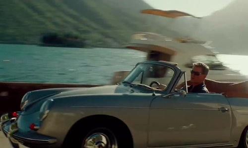 Pierce Brosnan with Porsche 1965 Porsche 356 Convertible/Coupe in The November Man