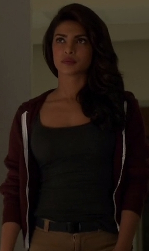 Priyanka Chopra with Free People Seamless Scoop Tank Top in Quantico