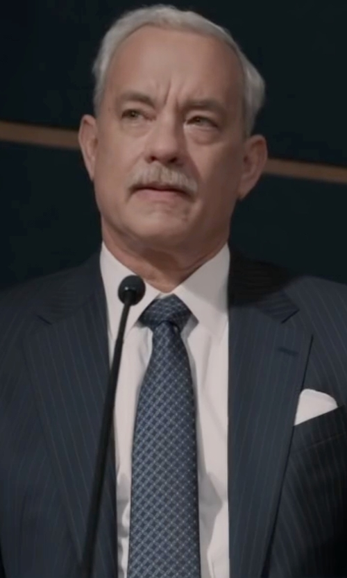 Tom Hanks with Lauren Ralph Lauren Men's Classic Diamond Jacquard Tie in Sully