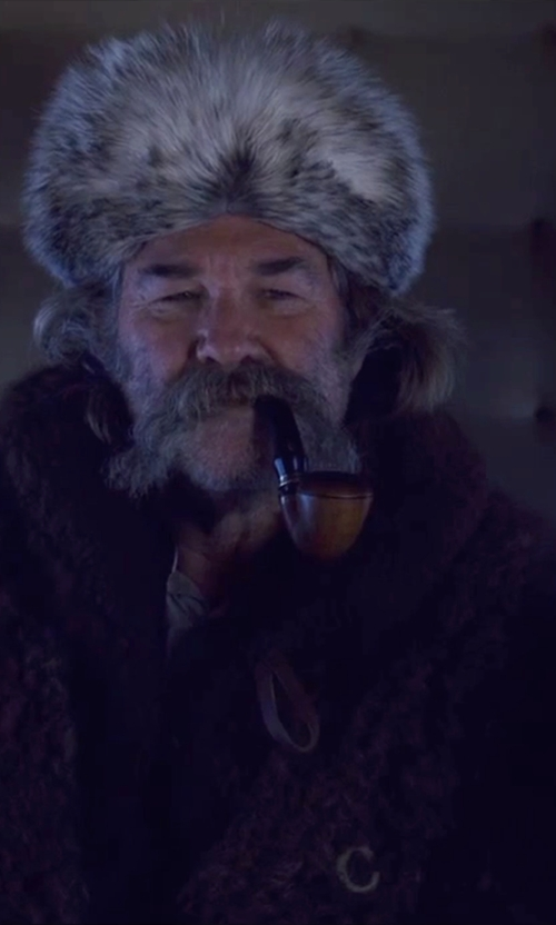 Kurt Russell with Merlin's Hide Out (Costume Designer) Custom Made 'The Hangman' Fur Hat in The Hateful Eight