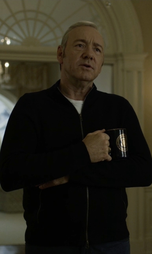 Kevin Spacey with Theory Alfredo New Sovereign Zip-Up Jacket in House of Cards