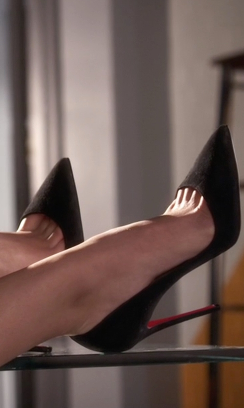 Ashley Benson with Christian Louboutin So Kate Suede Pumps in Pretty Little Liars