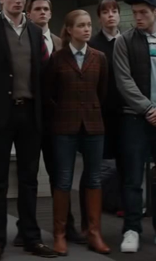 Sophie Cookson with Frye Melissa Zip Riding Extended Calf Boot in Kingsman: The Secret Service