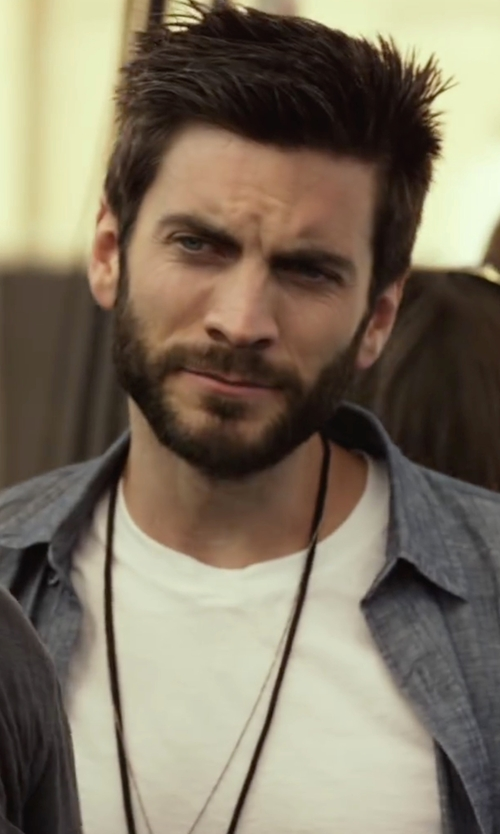 Wes Bentley with The Men's Jewelry Store Three Nails of Promise Necklace in We Are Your Friends