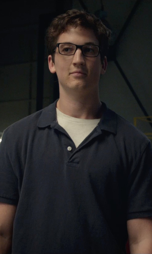 Miles Teller with Maison Kitsuné Cotton-Piqué Polo Shirt in Fantastic Four
