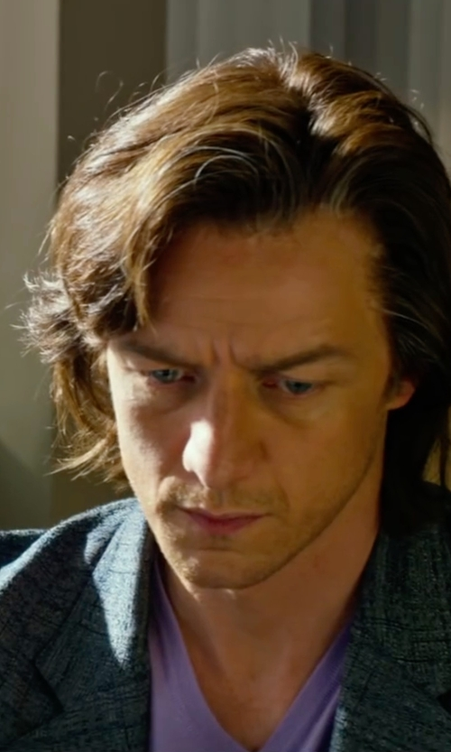 James McAvoy with John Varvatos Linen V-Neck Shirt in X-Men: Apocalypse