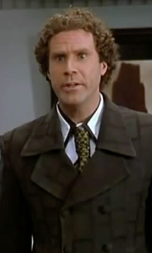 Will Ferrell with Versace Ornamental Print Silk Tie in Elf
