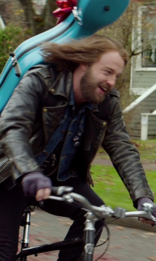 Joshua Leonard with Carhartt  Men's Sherpa Lined Denim Jean Jacket in If I Stay