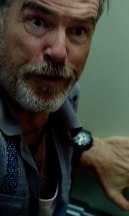 Pierce Brosnan with Movado Series 800 2600073 Chronograph Watch in No Escape