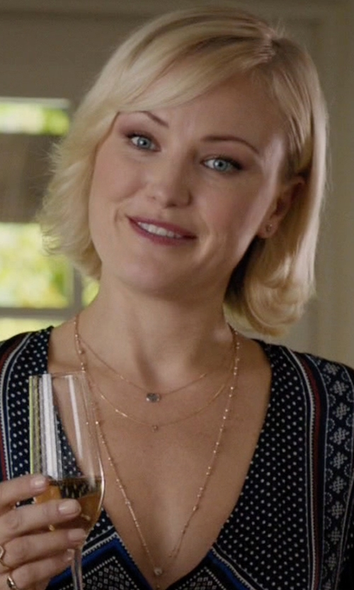 Malin Akerman with Vale Jewelry Tiny Indigo Necklace in Billions