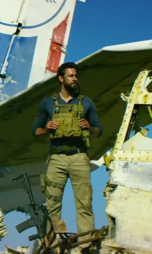 John Krasinski with Eddie Bauer Men's Legend Wash Cargo Pants  in 13 Hours: The Secret Soldiers of Benghazi