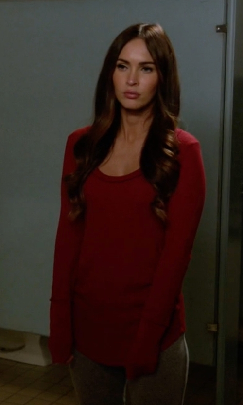 Megan Fox with Free People We The Free Ventura Thermal Sweater in New Girl