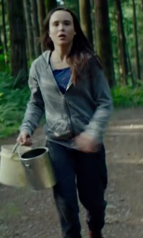 Ellen Page with Nation LTD Poppy Pants in Into the Forest
