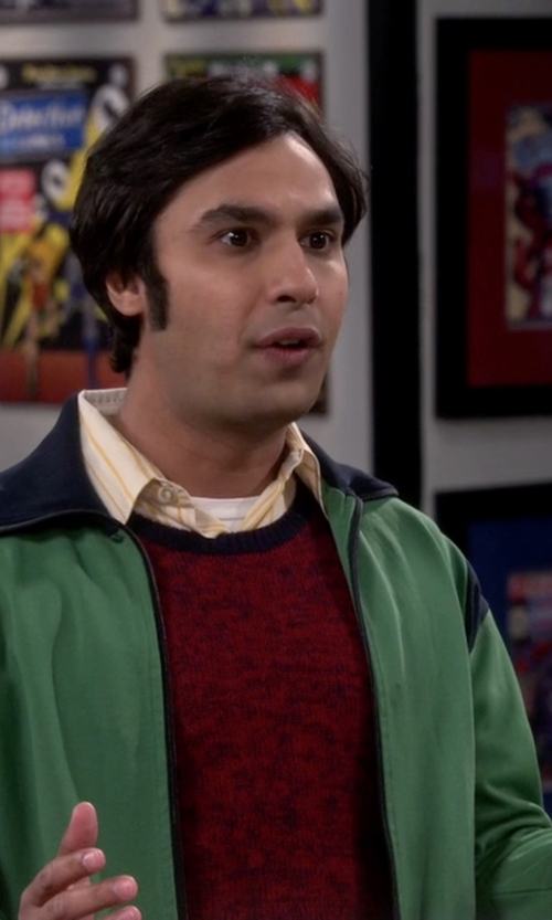 Kunal Nayyar with Polo Sport Brazil Track Jacket in The Big Bang Theory
