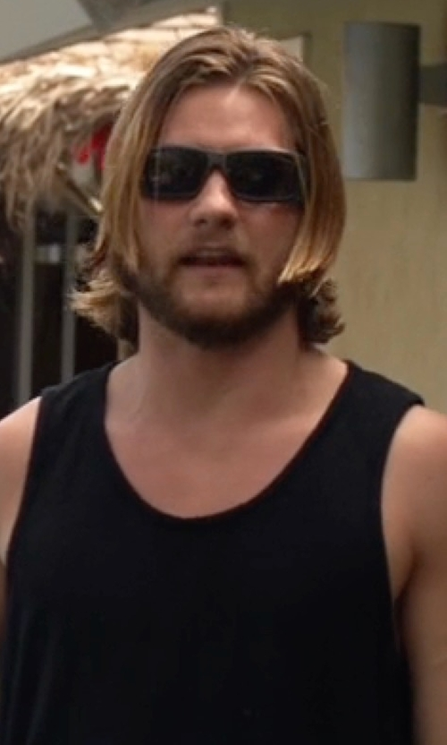 Jake Weary with Ray-Ban RB4199 61 Sunglasses in Animal Kingdom