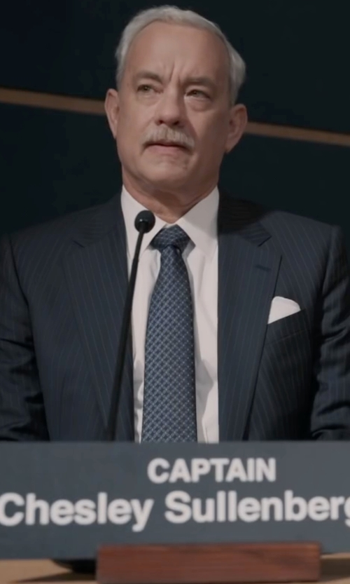 Tom Hanks with Hugo Boss  Boss Pasolini Movie Suit  in Sully