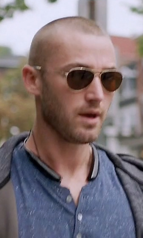 Jake McLaughlin with Ray-Ban Metal Aviator Sunglasses in Quantico