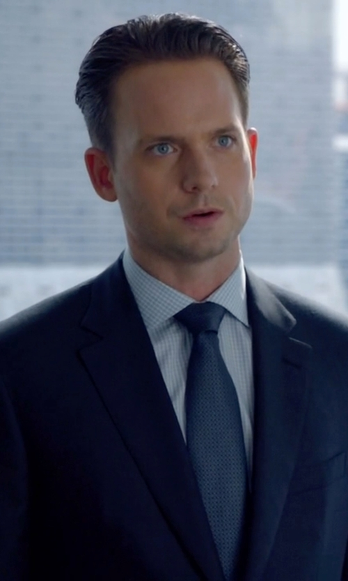 Patrick J. Adams with Armani Collezioni	 Modern Fit Shadow-Check Dress Shirt in Suits