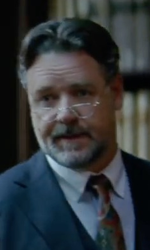 Russell Crowe with Tom Ford Square Thin Frame Eyeglasses in The Mummy
