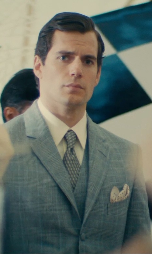 Henry Cavill with Timothy Everest Made to Measure Glen Plaid Three-Piece Suit in The Man from U.N.C.L.E.