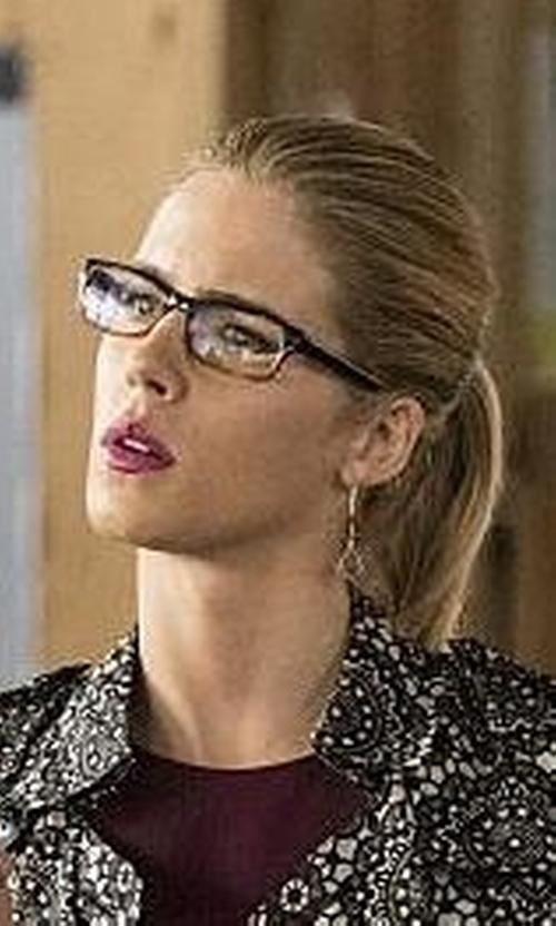 Emily Bett Rickards with Jastime 'Soho' Two Tone Eyeglasses in The Flash