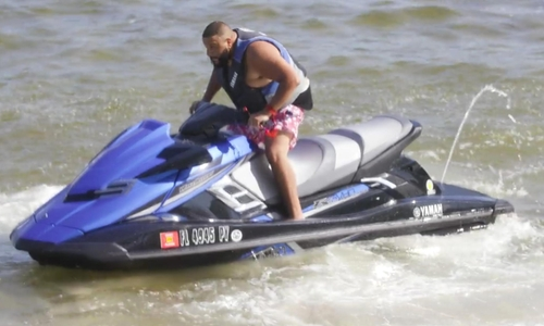 D.J. Khaled with Yamaha FX SVHO Jet Ski in Chelsea