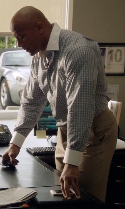 Dwayne Johnson with Incotex Skinny Stretch Batavia Pants in Ballers