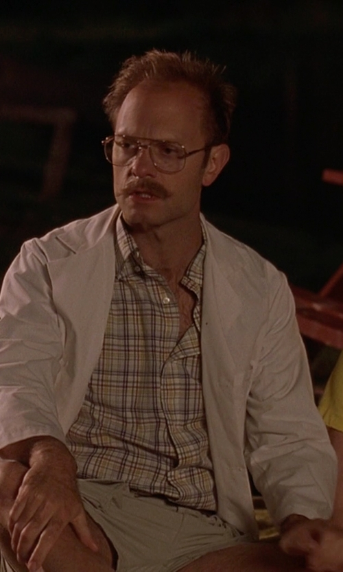 David Hyde Pierce with Perry Ellis Linen-Blend Suit Jacket in Wet Hot American Summer