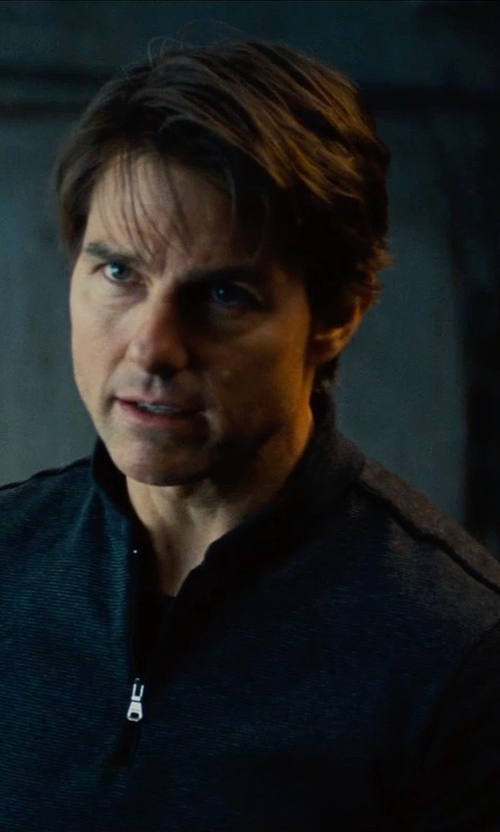 Tom Cruise with Cutter & Buck Weather Resistant Half Zip Jacket in Mission: Impossible - Rogue Nation