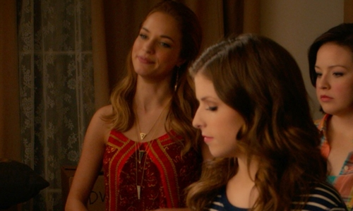 Alexis Knapp with Forever 21 Gold Triangle Earrings in Pitch Perfect 2