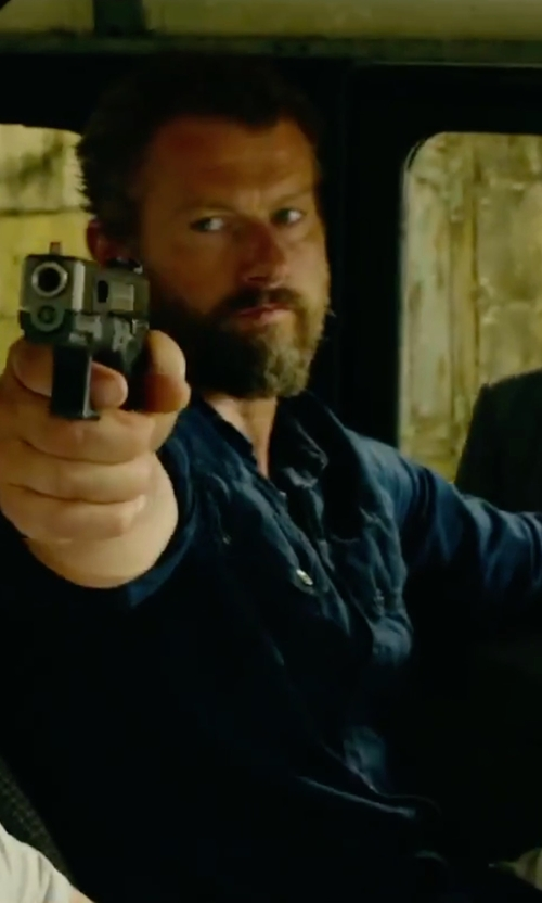 James Badge Dale with 3x1 Spread Collar Shirt  in 13 Hours: The Secret Soldiers of Benghazi