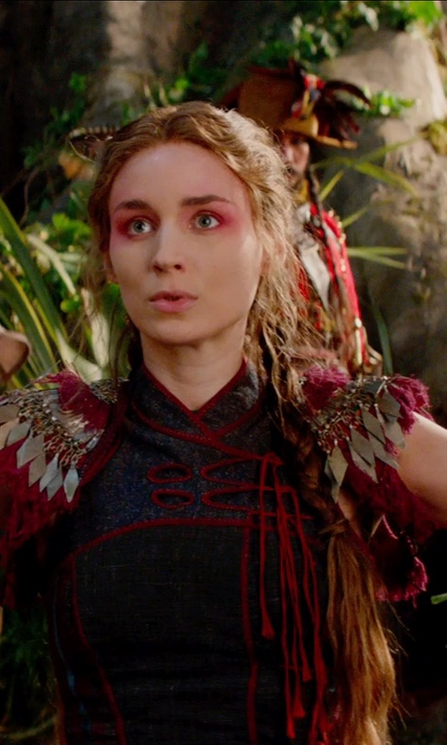 Rooney Mara with Jacqueline Durran (Costume Designer) Custom Made Patches Dress (Tiger Lily) in Pan