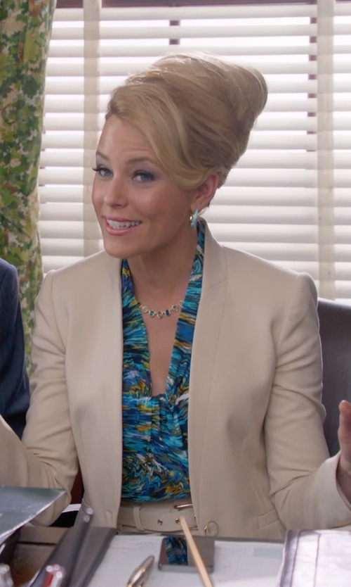 Elizabeth Banks with Alexis Bittar Medium Slip Hoop Earrings in Pitch Perfect 2