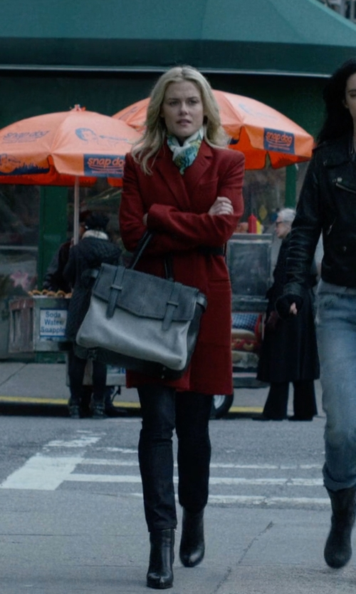 Rachael Taylor with Dune Peetra Pointed Chelsea Boots in Jessica Jones
