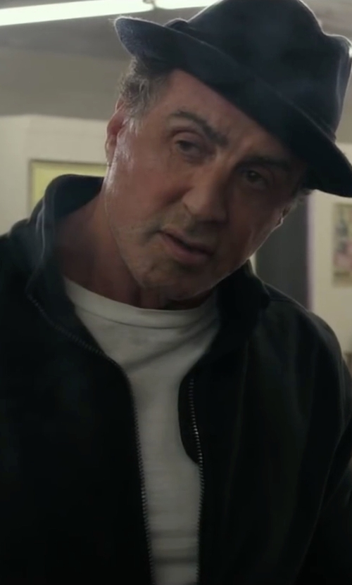 Sylvester Stallone with Vince Slub T-Shirt in Creed