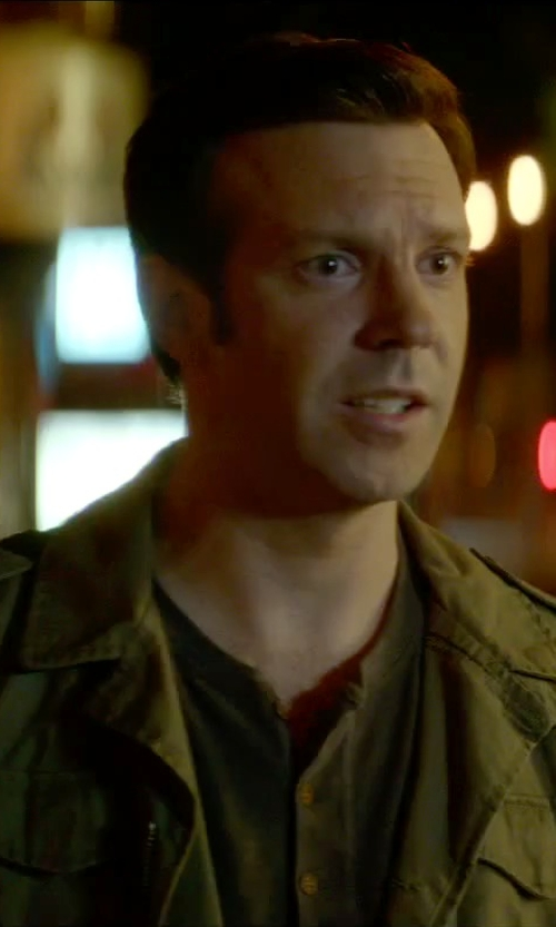 Jason Sudeikis with J. Lindeberg Water-Repellent Military Jacket in Sleeping with Other People