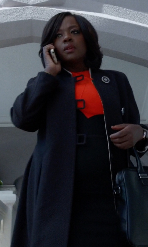 Viola Davis with Cinzia Rocca Single-Breasted Coat in How To Get Away With Murder