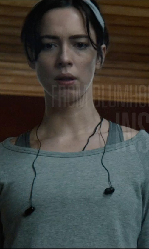 Rebecca Hall with T by Alexander Wang Stretch Sports Bra in The Gift