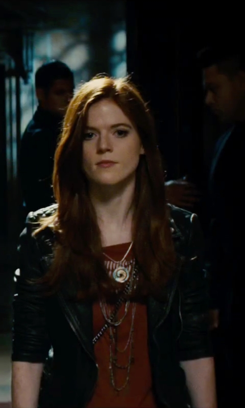 Rose Leslie with Swarovski Crystal Circle-Pendant Necklace in The Last Witch Hunter