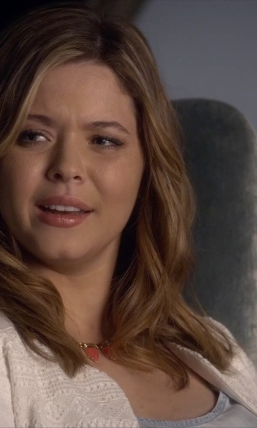 Sasha Pieterse with Stella & Dot Eye Candy Necklace in Pretty Little Liars