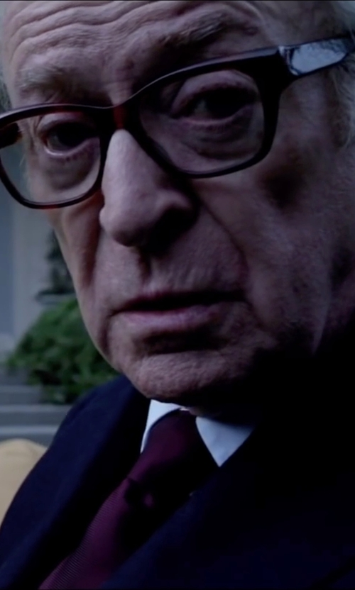 Michael Caine with Lanvin Grosgrain Solid Tie in Youth