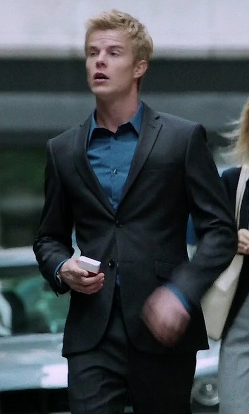 Graham Rogers with BOSS 'Johnstons/Lennon' Trim Fit Wool Suit in Quantico