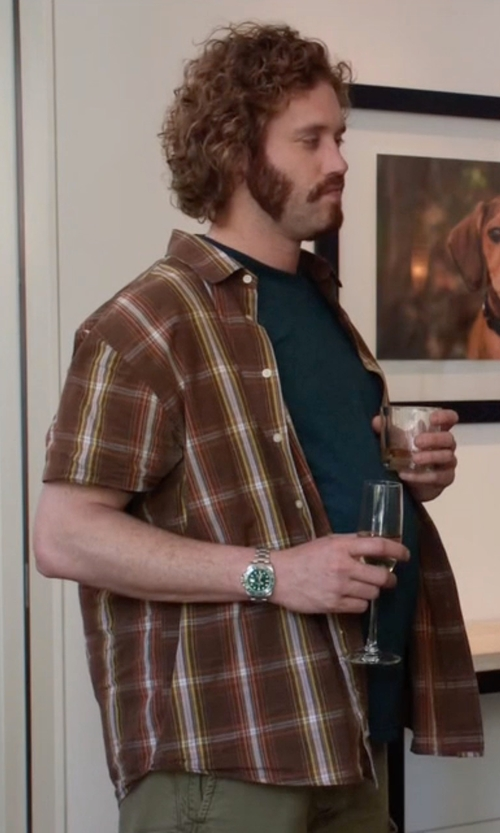 T.J. Miller with Rolex Submariner Green Dial Watch in Silicon Valley