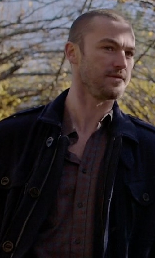 Jake McLaughlin with Alpha Industries Revival Field Jacket in Quantico