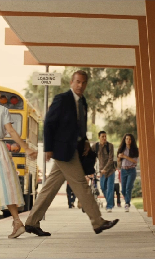 Kevin Costner with JB Britches Flat Front Worsted Wool Trousers in McFarland, USA