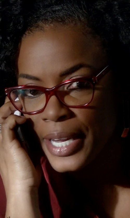 Aunjanue Ellis with Armani Exchange AX Cat Eye Plastic Eyeglasses in Quantico
