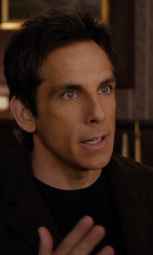 Ben Stiller with Vince Crew Neck T-Shirt in Night at the Museum: Secret of the Tomb