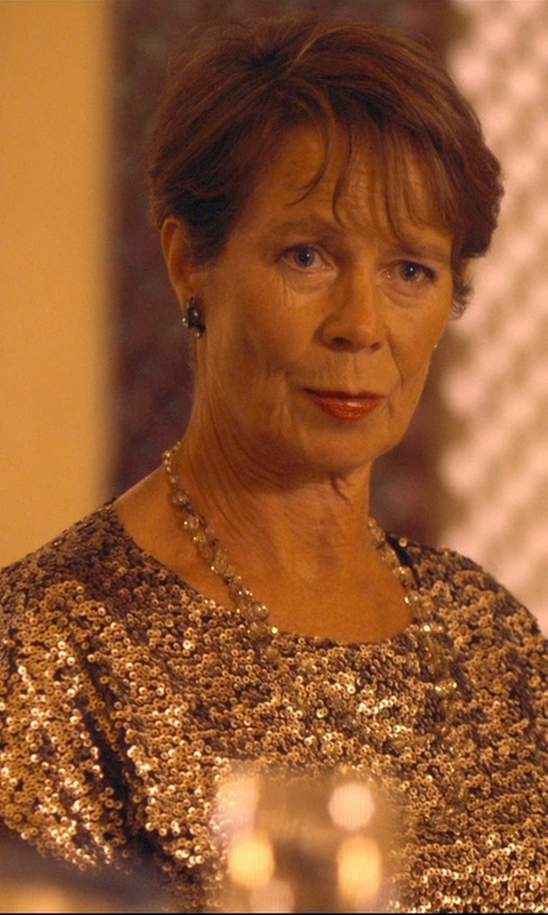 Celia Imrie with Parker Black Petra Dress in The Second Best Exotic Marigold Hotel